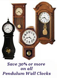 Sale on all Pendulum Wall Clocks