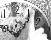 minute hand on grandfather clock
