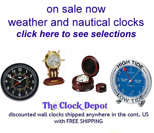 Tide Only Clock Sale - nautical weather clocks